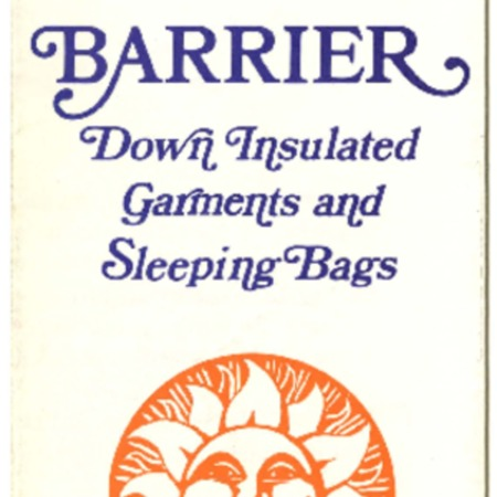 Barrier, Down Insulated Garments and Sleeping Bags, 1972