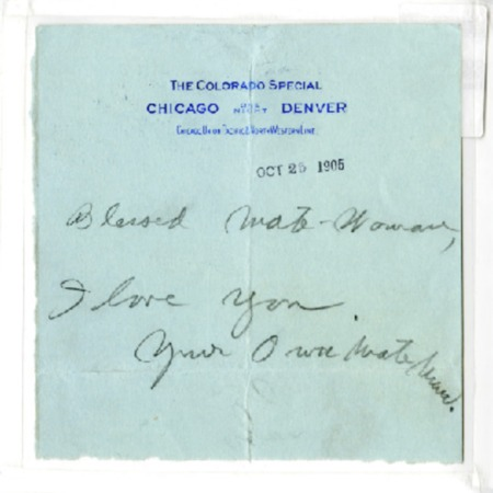 Jack London letter to Charmian London, dated October 25, 1905