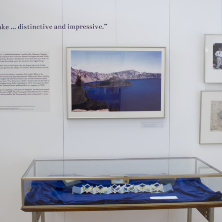 Jack London Exhibit, Crater Lake Panel, view 1