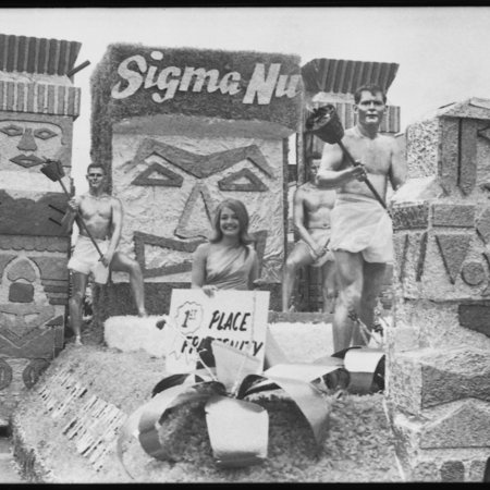 First place fraternity float, 1965