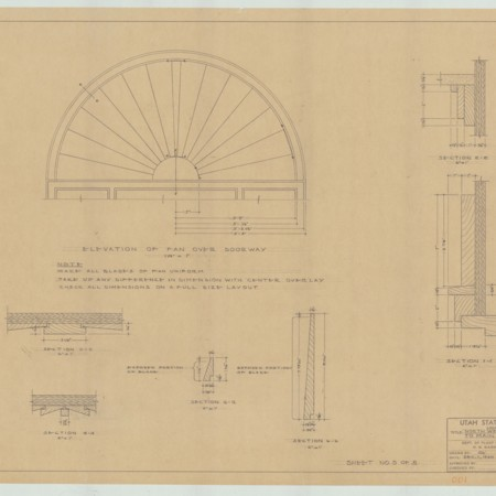 Remodel Design Plans for the North-West Entrance to Old Main, 1960