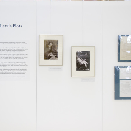 Jack London Exhibit, Sinclair Lewis Plots Panel, view 1