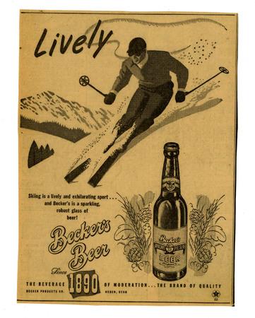 Advertisement for Becker's American Pilsner Beer (15 of 18), 1947