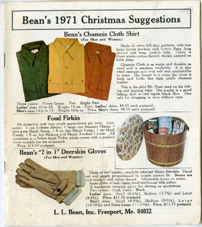 L.L. Bean, 1971 Christmas Suggestions