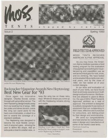 Moss Tent Works, newsletter, 1993
