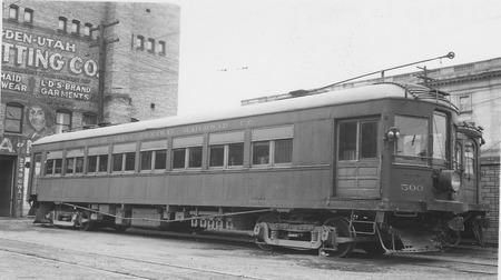U.I.C. Engine #500 in Ogden, Utah, 1944<br />
