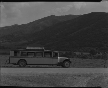 A U.I.C. Passenger Bus Near Box Elder Canyon, 1926<br />