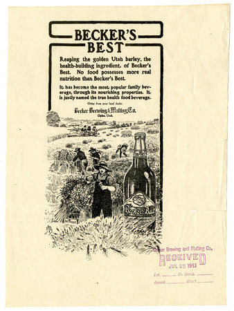 Advertisement for Becker's Best (26 of 29), 1913