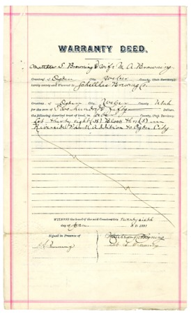Warranty Deed to the Schellhas Brewing Company (2 of 2), 1891