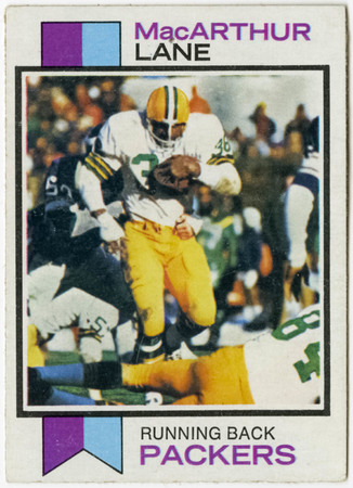 Football card - MacArthur Lane, Green Bay Packers, 1973