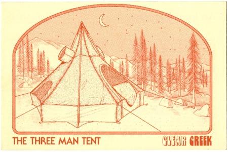 Clear Creek, The Three Man Tent, undated