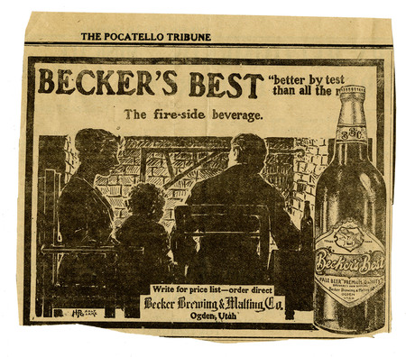 Advertisement for Becker's Best (10 of 29), c. 1910