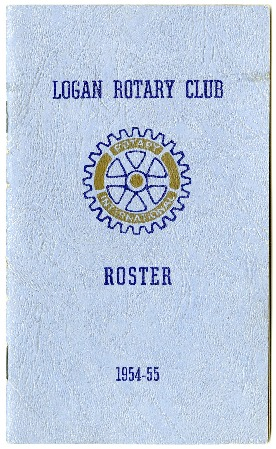 Logan Rotary Club  Roster, 1954-55