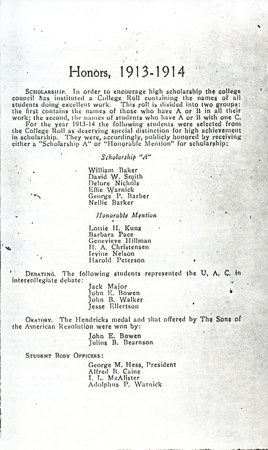 1914 UAC Commencement Program Page 5