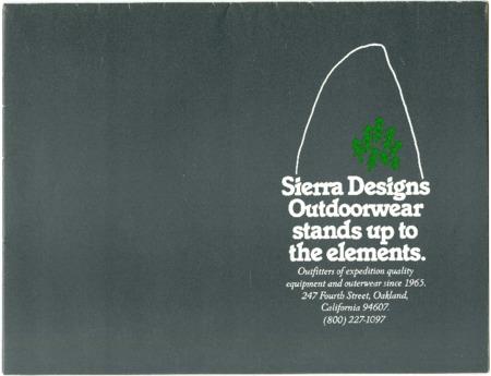 Sierra Designs, Outdoorwear, 1983