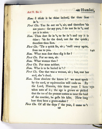 Hamlet, Act 5 Scene 1, g