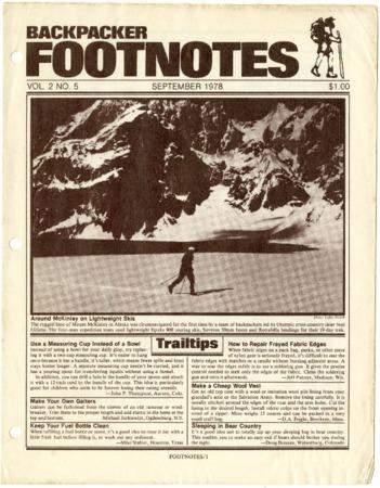 Backpacker Footnotes, September 1978