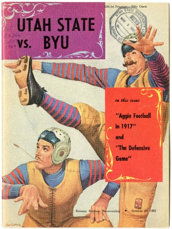 Football program - Utah State vs. BYU, October 27, 1962