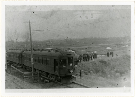 South Cache High School Students Board the U.I.C. at Hyrum, 1920s<br />