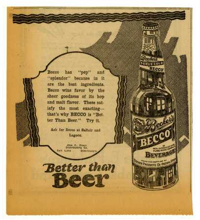 Advertisement for Becker's Becco (8 of 9), 1922