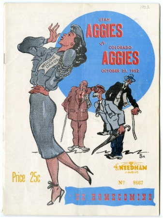 Football program: Utah State vs Colorado State, October 25, 1952