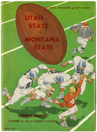 Football program - Utah State University vs. Montana State University, October 24, 1959