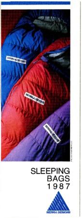 Sierra Designs, Sleeping Bags, 1987