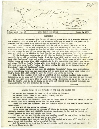 Old Ephraim story found in Chips magazine of the Utah State Foresters, 1953