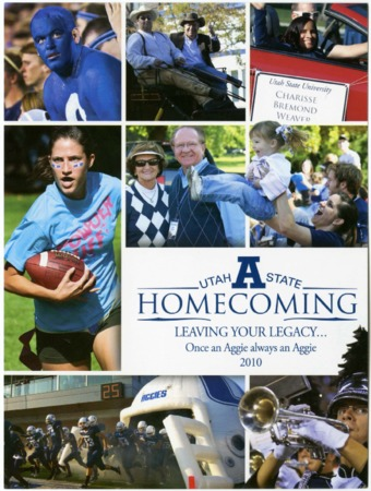 "Brochure: USU homecoming 2010, ""Leaving your Legacy"""