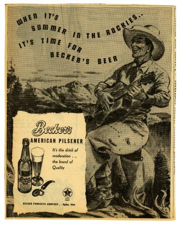 Advertisement for Becker's American Pilsner Beer (7 of 18), 1945