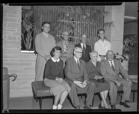 Participants in the Old and New Alumni activity, 1953