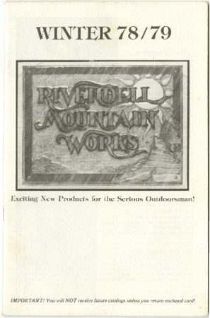 Rivendell Mountain Works, Winter 1978-1979