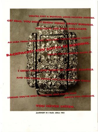 Jansport, floral backpack, 1992