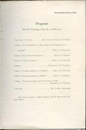 1908 UAC Commencement Program Page 7