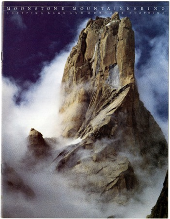Moonstone, mountaineering, rocky mountain and clouds, undated
