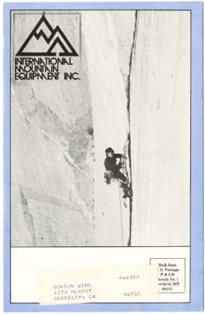 International Mountain Equipment Inc., ice climbing, undated