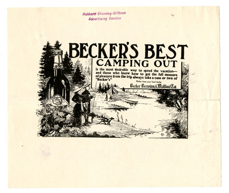 Advertisement for Becker's Best (22 of 29), c. 1915