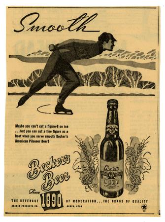 Advertisement for Becker's American Pilsner Beer (4 of 18), 1947