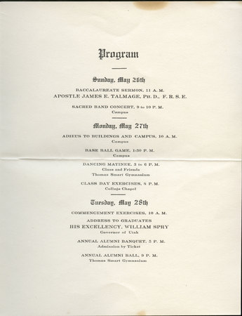 1912 UAC Commencement Invitation Page 1