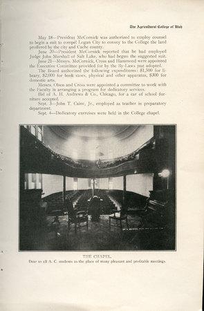 1908 UAC Commencement Program Page 11