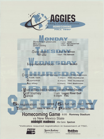 Homecoming poster, 1997
