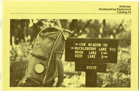 Antelope Camping Equipment, Catalog 72 undated