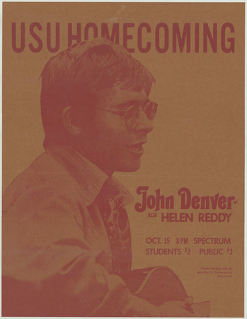 John Denver homecoming concert poster