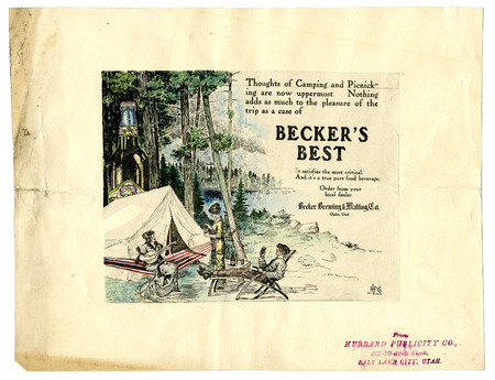 Advertisement for Becker's Best (19 of 29), c. 1915