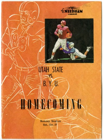 Football program - Utah State Agricultural College vs. Brigham Young University, October 27, 1956