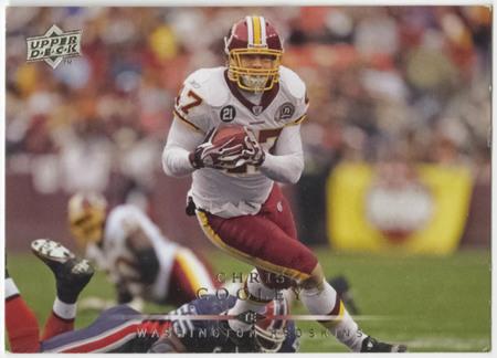 Football card - Chris Cooley, Washington Redskins, 2008