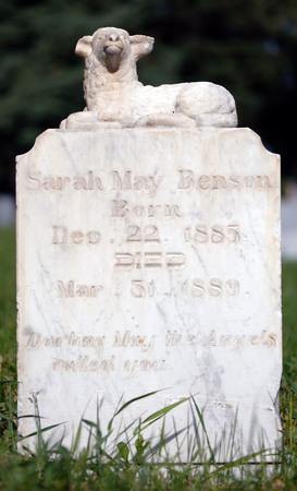 Logan cemetery headstone, 6