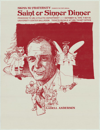 Saint or Sinner Dinner poster, 1975