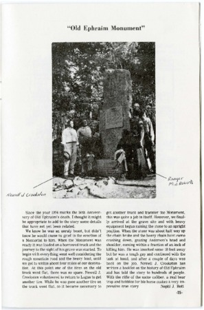 """""""Old Ephraim Monument"""" from A Legacy of Monuments"""