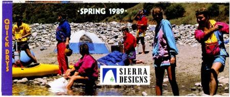 Sierra Designs, Spring 1989